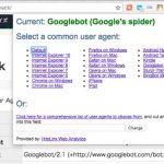 Google Chrome でツールバーから User-Agent を変更する拡張機能 User-Agent Switcher