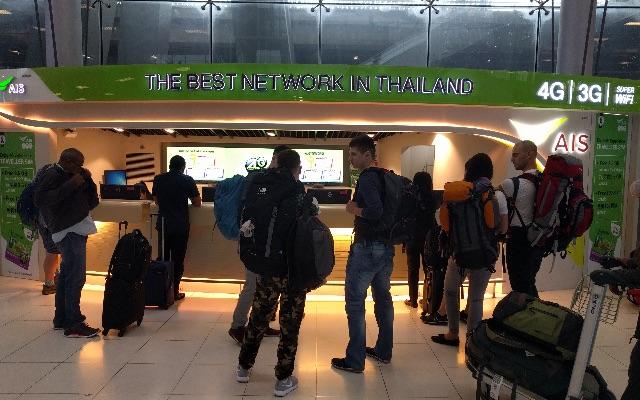 bangkok airport ais counter