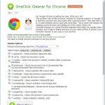 Google Chrome のデータを簡単に削除、動作を軽くする拡張機能 OneClick Cleaner