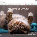 Chrome の新規タブに可愛いネコやイヌ画像を表示する拡張機能 My Cats/Dogs New Tab
