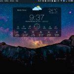 macOS のデスクトップに天気予報を表示ウィジェットアプリ Weather Widget: Desktop forecast