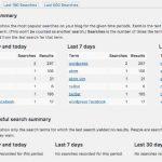 WordPress 内の検索の集計を行うプラグイン Search Meter