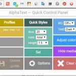 Chrome で Web 上のテキストを見やすくする拡張機能 AlphaText