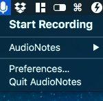 メニューバーに常駐し音声メモを録れ即座にシェアできる Mac アプリ AudioNotes