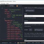 Atom で JSON ファイルを編集するパッケージ atom-json-editor