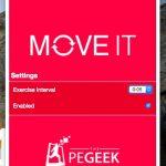 強制的に休憩時間を作る Chrome 拡張機能 Move It