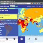 国別の危険度を世界地図として表示する Web ページ Travel Risk Map