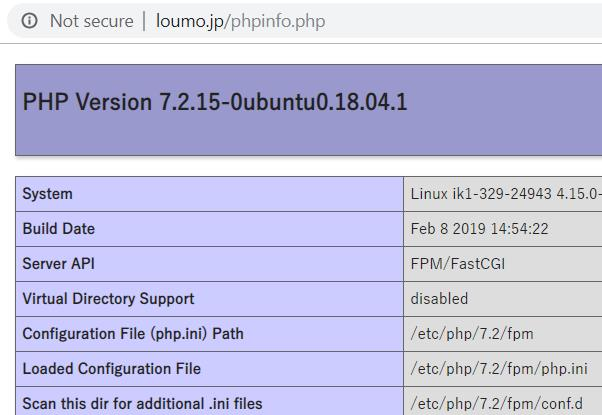 さくらのVPS + Ubuntu 18 04 + Nginx + PHP + MySQL で